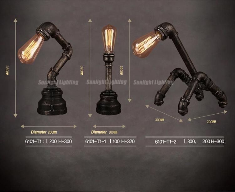 Lampade Da Tavolo Lavoro : Industriale tubo scrivania lampada american robot lampada da