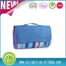 stripe design waterproof outdoor rug rubber backed picnic rug cheap folding polar fleece picnic blanket