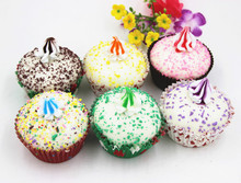 6 Selections realistic artificial cupcakes for party decoration or wedding gifts