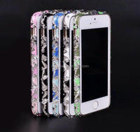 High Quality Crystal Rhinestone Diamond Bling Metal Frame For iPhone5 Cell Phone Bumper Case