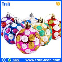 6 PCS 6cm Mixed Color Dots Honeycomb Christmas Balls for Christmas Tree Ornaments, Hangings Home Decoration