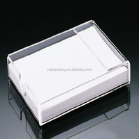 cheap price acrylic business card box business card stand for office supplies