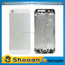 mobile spare parts for iphone 5 back housing replace,cell phone cover for iphone 5