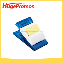 Printed LOGO Plastic Memo Clip Sticky Noted