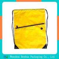 Customizable polyester drawstring backpack gym sack bag