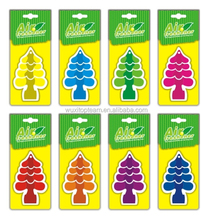 Promotional tree style hanging paper/cotton car air freshener