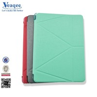 Veaqee hot smart good price universal flip cover leather case for i pad