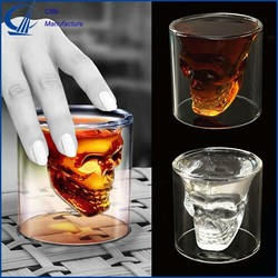 Crystal Skull Head Wine Vodka Shot Glass Drinking Ware New Cool Cup For Home Bar 75ml
