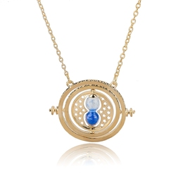 Time Turner Hermione Granger Hourglass Pendant Necklace Gold