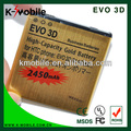alta capacidad de la batería de litio del teléfono celular para Samsung EVO3D