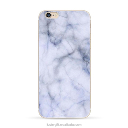 Custom printed Clear phone case For iPhone 6 / 6S Marble Texture Printing soft phone case