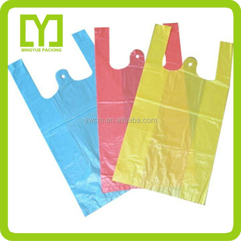 New Material Plastic Packaging Cheap T Shirt Shopping Bag