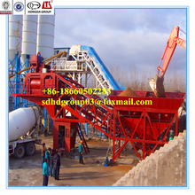 China concrete machine manufacturer 30 years experience, YHZS40 mobile concrete batching plant, 40m3/h mobile hot mix plant
