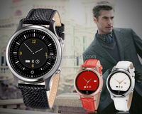2015 Bluetooth PU Leather Smart Watch Phone 1.22 Inch Android 4.4 3G Dual Core 2.0mp Camera Wcdma GSM (50pcs/lot)