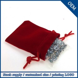 Wholesale Promotional 7x9cm Jewelry Drawstring Fashion Velvet Bag,Velvet Gift Pouches