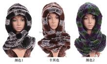 fur hooded scarf hat