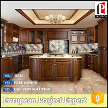 American oak solid wood classical furniture durable color kitchen cabinets design hot selling furniture