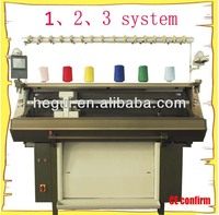 single system, 2 system, 3 system hat and scarf knitting machine