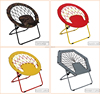 Promotion new design light weight moon chair top quality folding round bungee chair with cheapest price