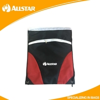 High quality Mesh and 210D Polyester promotional drawstring bag