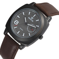 Model 9385 fashion design men's skone leather leather brand watch