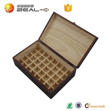 New arrival high quality deft design wooden custom olive oil box with dividers
