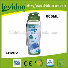 Promoción botellas deportivas plásticas para agua en diferentes colores sin BPA