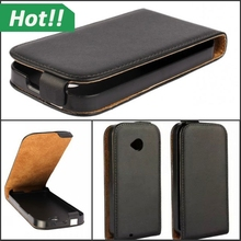 For Motorola E2 Flip PU Leather Case Full Protect Cover For Moto E2 Phone Skin Vertical With Safe Buckle Cases Black Color