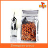 Wholesale plastic stand up pouch with zipper for food packaging