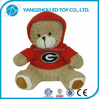 Super soft plush polyester wear clothes teddy bear plush stuffed toys