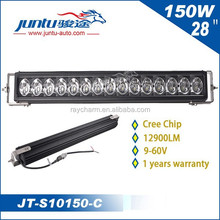 12v 24v car offroad led light bar 150W 28inch outdoor truck light JT-S10150-C led truck work lights