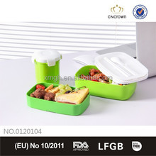 2015 new plastic microwave lunch box with belt/1200ml