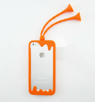New style dragonfly shaped silicone cellphone case cover for iphone 4