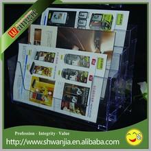 Clear Acrylic Magazine Display Racks, Acrylic Document Display Holder
