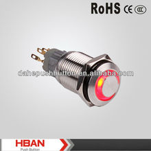 CE ROHS 16mm High head momentary automatic door switch