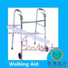 Walking Aid Push Down Handle Brake Aluminum Rollator- Rollator