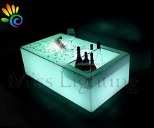 LED bar table with lights ice bucket cooler