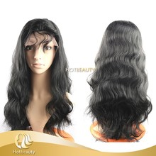 Ample supply and prompt delivery virgin human hair curly full lace wigs for women