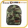 2015 designer fashion foldable durable polyester camouflage school bag