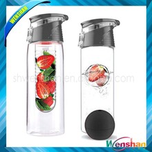 tritan fruit infuser water bottle with private label