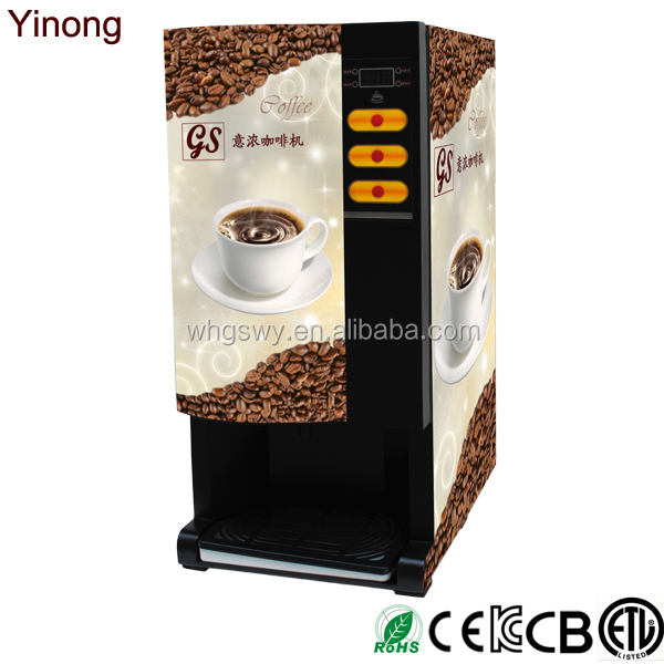 Yinong Gbd103 Made In China Automatic 3 Hot Flavors Cafe Coffee Machine Auto Machine Cafe - Buy ...