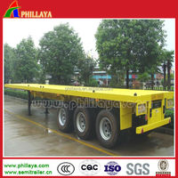 3 axle tri-axle 20ft 40ft containers truck trailer with semi-trailer air bag from semi trailer manufacturer factory supplier
