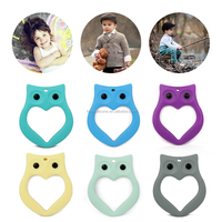 Top sale owl teether toys soothing soft rubber chew toys for babies