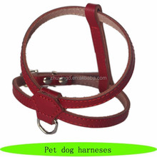 2015 wholesale real leather pet dog body harness