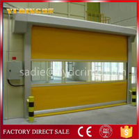 YQR-01 high speed fast rolling door, tubular motor for motorized curtain system