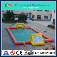 mini inflatable soccer field/inflatable water soap football field