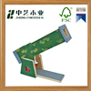 Eco- friendly colorized decorative green painting educational wooden toy for baby