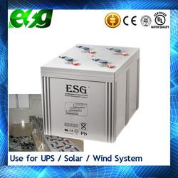 2015 Hot Sale High Capacity solar panel 2V2000AH solar battery