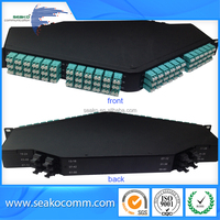 144 cores 1U 19'' Rack Mount Fiber Optic MPO Cassette with Fusion Splicing Tray