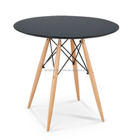 black color beech wood legs with MDF table top coffee table